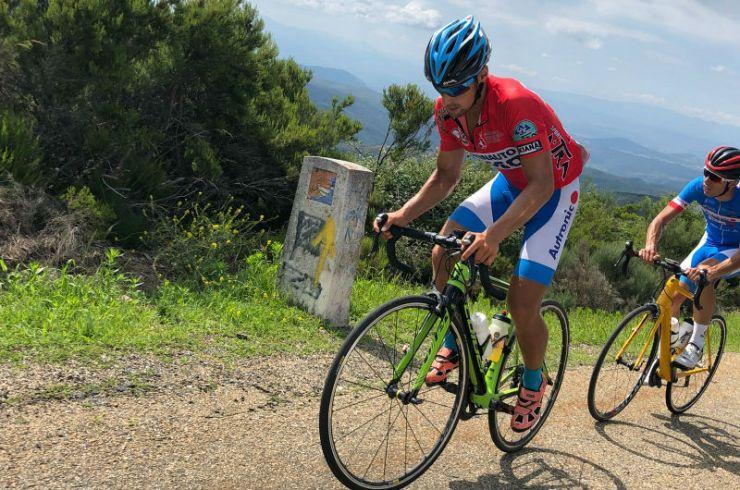 Imagen de Kevin Tarek Viñuela en la Vuelta Ciclista a León 2018